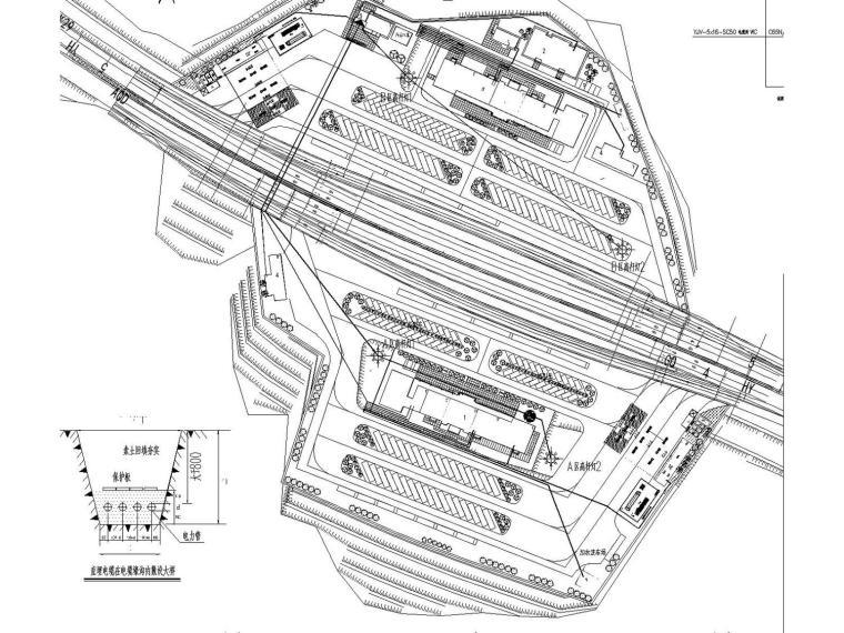 [贵州]高速公路服务区全套电气施工图设计(含总图)
