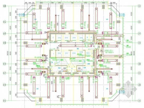 [江西]综合性超高层建筑空调通风及防排烟系统设计施工图(水蓄冷 105张)