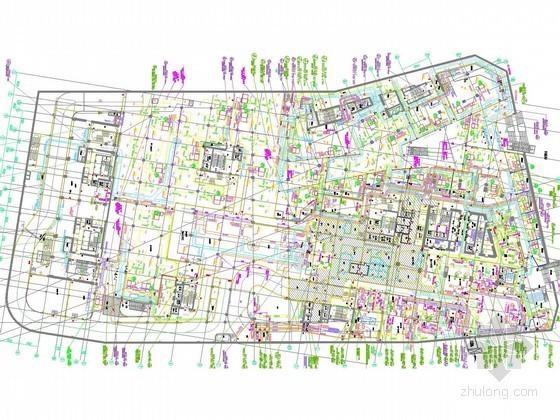 [江苏]超高层综合商业广场暖通空调全系统设计施工图(30万平 冰蓄冷 人防)