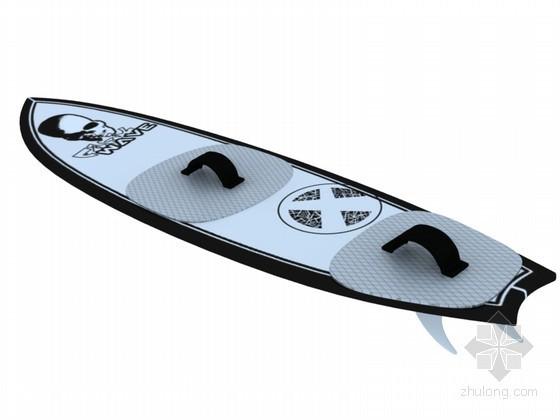 穿孔板铝板贴图资料下载-冲浪板3D模型下载