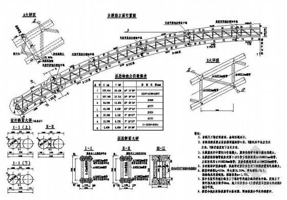 杭新景高速公路拱肋式大桥拱肋布置节点详图设计