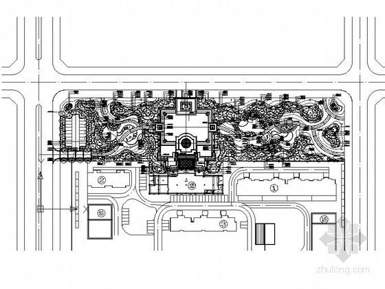 [吉林]居住区售楼处室外景观园建工程施工图