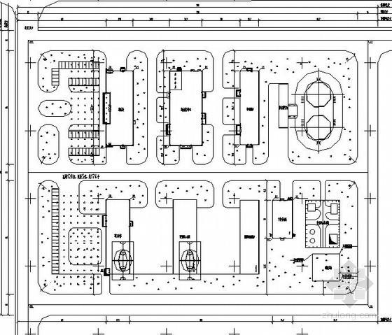 [唐山]码头生活区地源热泵机房施工图