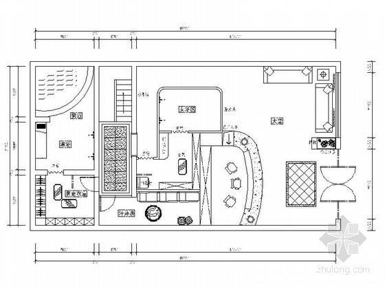 [南京]某现代高档足浴会所室内装修图(含效果)