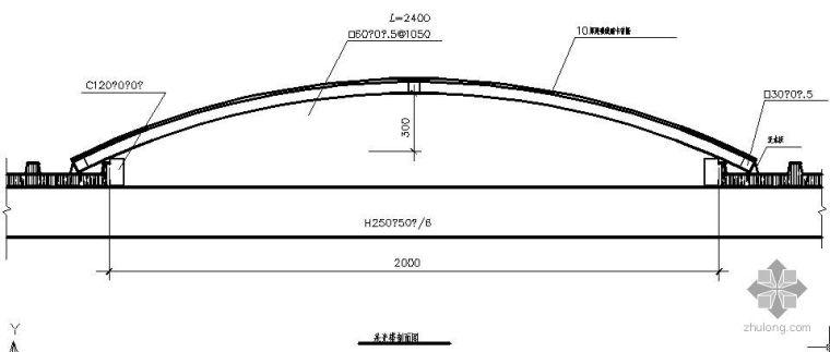 某采光带剖面节点构造详图