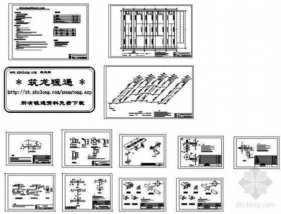 大庆某厂房燃气红外线辐射采暖方案图纸