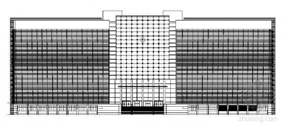 上海市某人民法院审判法庭办公楼建筑施工图