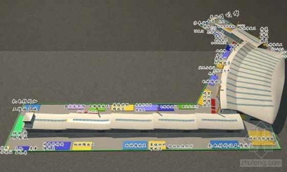 江西某机场航站楼工程施工总平面布置方案
