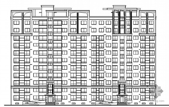 山东银座花园二期工程某十一层住宅楼建筑施工图