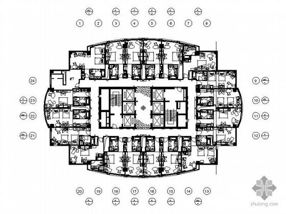 [上海]五星级大酒店装饰施工图(含景+手绘)