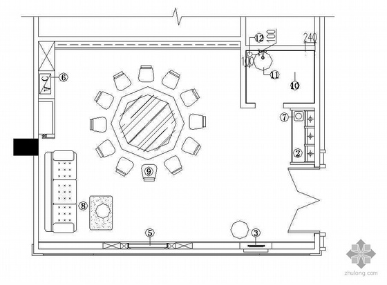 某餐厅包间装修施工图3