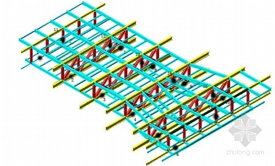 高层大跨度钢桁架整体提升监测施工工法(应变、加速度)