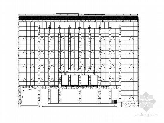 [枣庄]某区电力抢修中心五层办公楼外立面幕墙装修方案图
