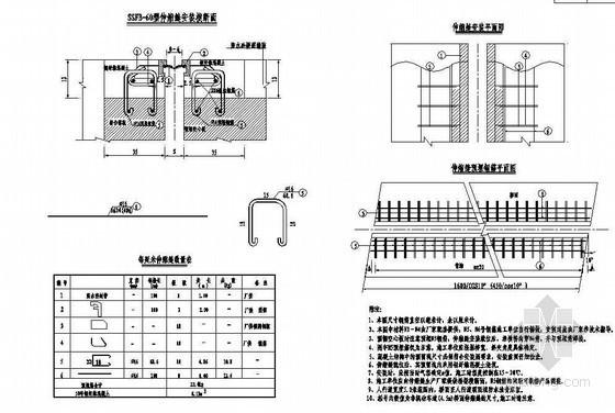 16米先张法预应力混凝土空心板伸缩缝节点设计详图