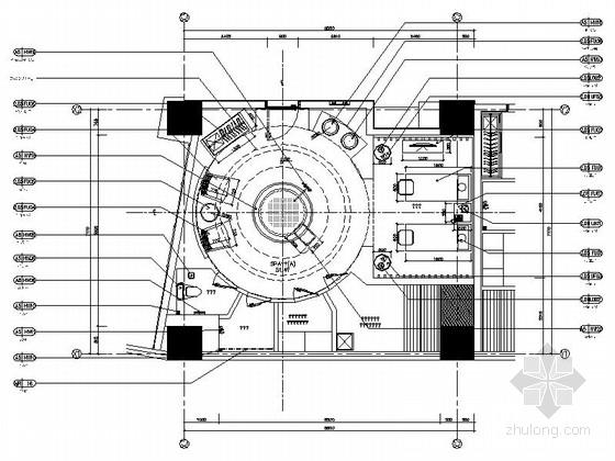 [西安]风格独特四星级酒店SPA区装修设计施工图(含效果)