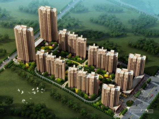 [河南]现代风格高层住宅区规划设计方案文本