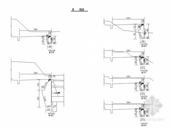 高速公路右侧衡重式路肩墙设计图