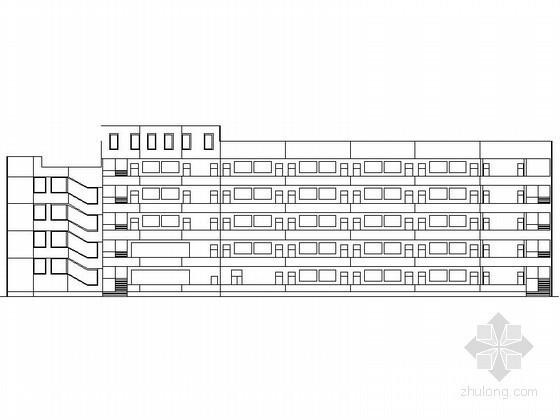 某学校五层教学楼建筑方案图
