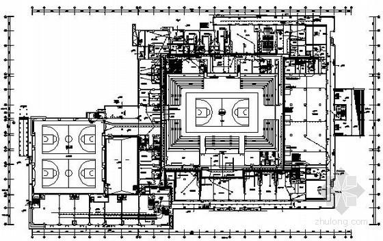 [福建]某四层公共体育馆全套电气施工图纸72张