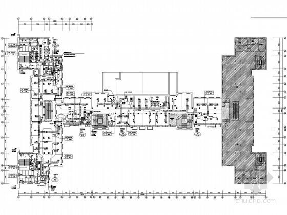 [哈尔滨]百货商城空调通风设计竣工图(知名院图纸 含空调电气设计)
