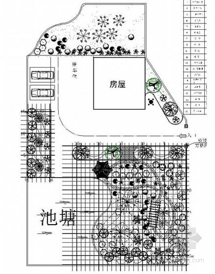 别墅庭院景观规划设计总平面图