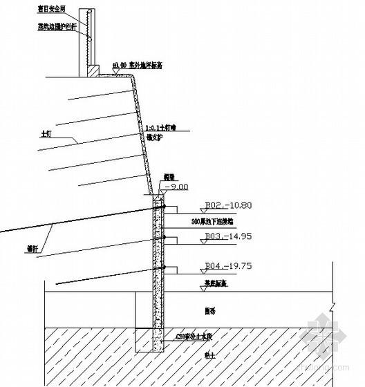 组合基坑支护方案示意图