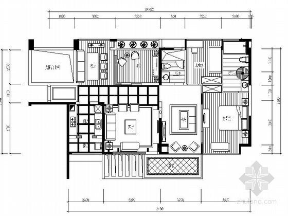 地中海三室样板房装修图(含效果)