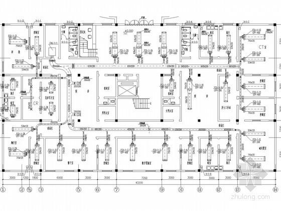 医院影像楼空调通风防排烟系统设计施工图