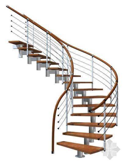 步蹬双边扶手自由式楼梯