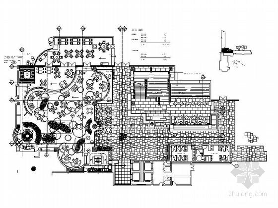 [浙江]度假酒店餐厅室内装修CAD施工图(含效果)