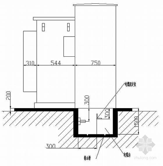 高供高量配电工程箱式变电站电气图