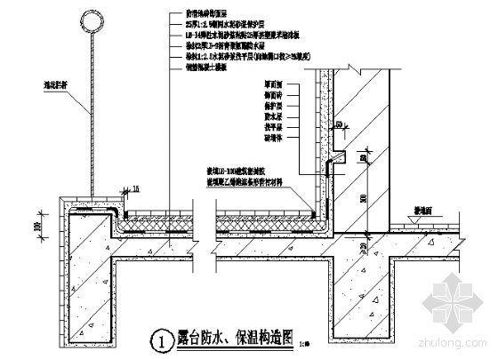 露台防水、保温构造图2