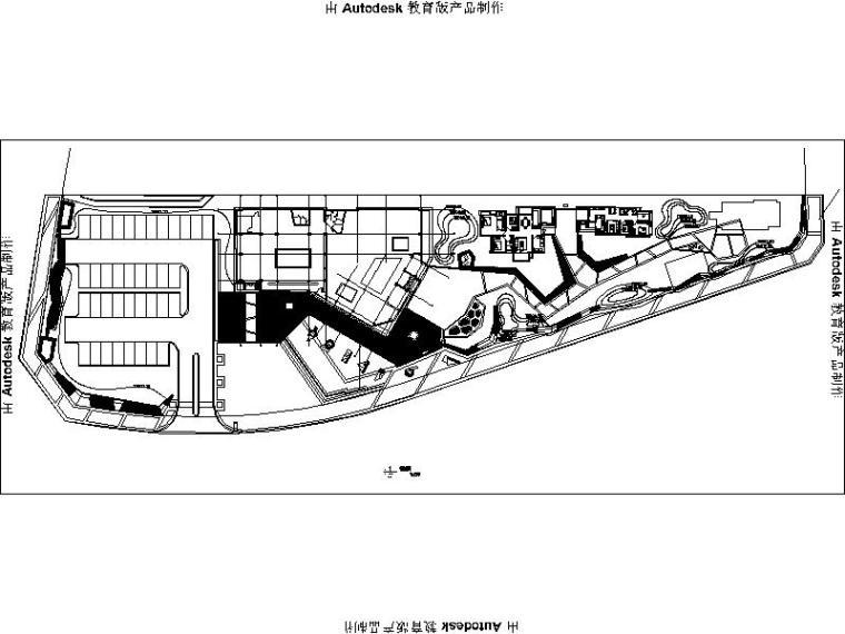 [四川]现代折线示范区景观设计施工图(方案+施工图+实景)