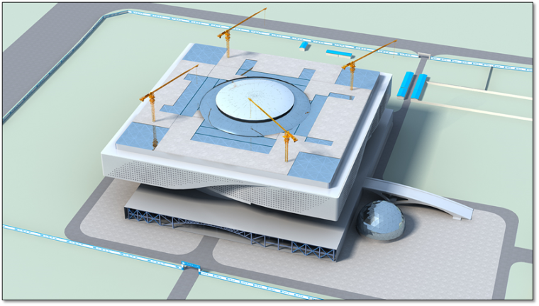 钢结构科技馆施工组织设计汇报(附图丰富,钢框架)_12