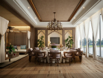 巴厘岛风格湖景包厢双方案