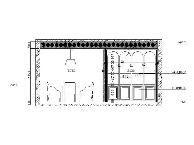 [山东]波普风格复式楼设计CAD施工图(含效果图)-【山东】波普风格复式楼设计CAD施工图(含效果图)立面图