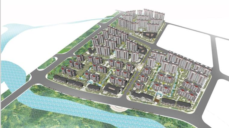 [陕西]高层新中式风格住宅建筑设计方案文本(含叠拼洋房)