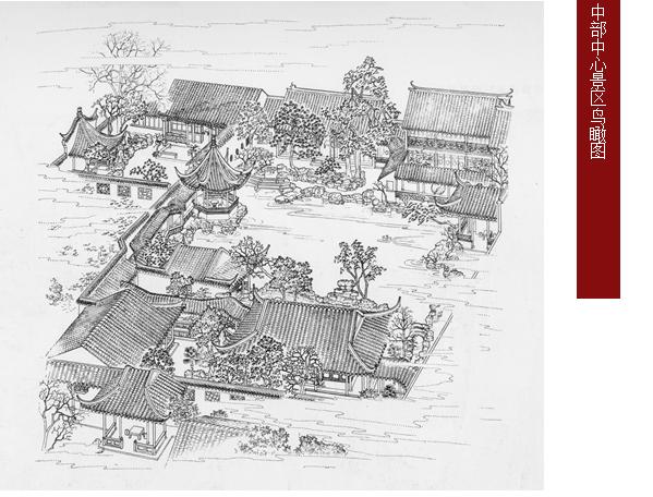 [学生总结]古典园林分析之网师园景观分析-网师园内部鸟瞰