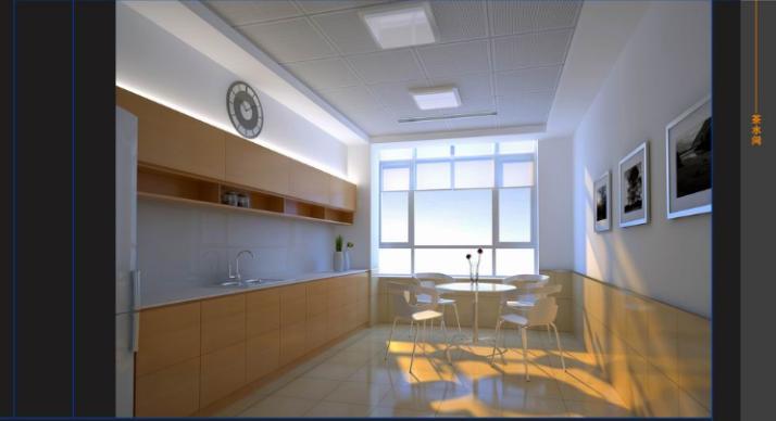港埠机电办公楼室内设计施工图及效果图(26张)