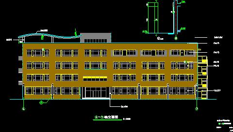 四层面砖外墙某小学全套建施图