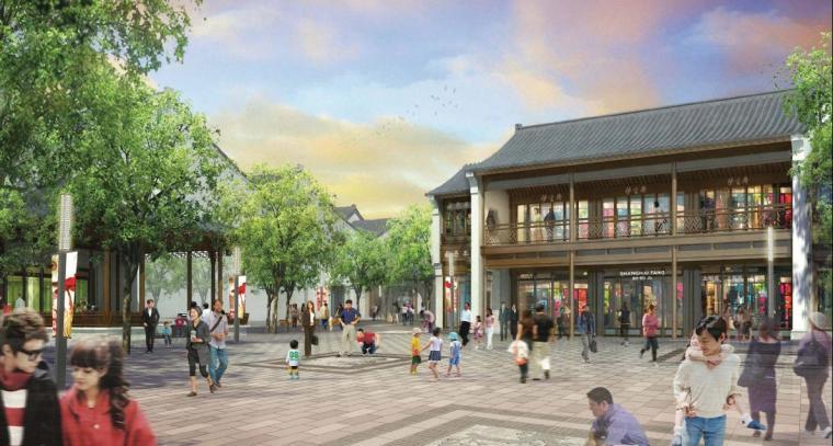 [浙江]新中式风格石材外墙传统文化商业街策划设计方案文本