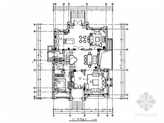 精品豪华法式乡村风格两层别墅室内装修施工图(含软装方案)