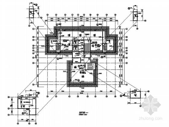 [贵州]高层框剪结构面砖外墙商用住宅建筑施工图(含多套方案)-高层框剪结构面砖外墙商用住宅建筑平面图