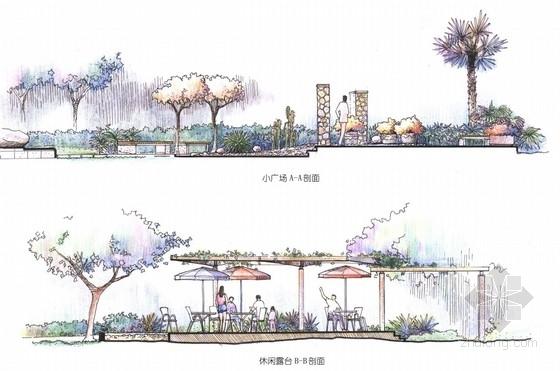 [江苏]小清新景观住宅规划设计方案-景观立面图
