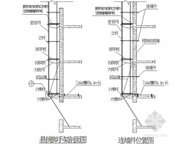 住宅楼工程悬挑脚手架及卸料平台施工方案(50页)