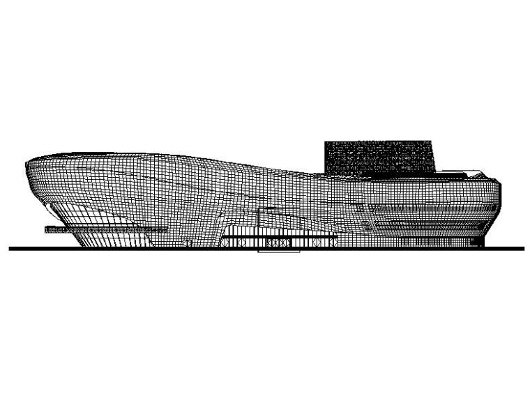 U型玻璃幕墙隔断资料下载-[安徽]四层弧线型文化中心钢结构玻璃幕墙施工图(16年最新)