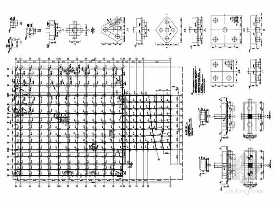 [黑龙江]地上二层钢框架结构展厅与车间厂房结构施工图