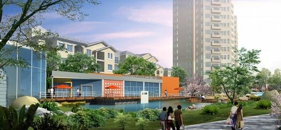 [宁波]现代都市特色优雅住宅景观设计方案-景观效果图