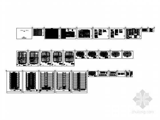 [安徽]30层现代风格住宅建筑施工图(棚户区改造)-总缩略图