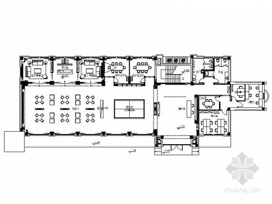 [北京]房山区高档现代销售中心装修施工图